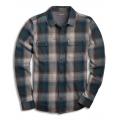 Huckleberry - Toad&Co - Men's Indigo Flannel LS Shirt Slim