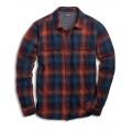 Burnt Orange - Toad&Co - Men's Indigo Flannel LS Shirt Slim