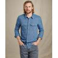 Light Indigo Twill - Toad&Co - Men's Indigo Flannel LS Slim Shirt