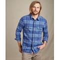 Medium Indigo Plaid - Toad&Co - Men's Indigo Flannel LS Shirt Slim