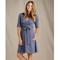 Blue Shadow Fern Print - Toad&Co - Women's Cue Wrap Cafe Dress