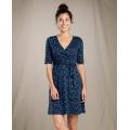 Nightsky Line Print - Toad&Co - Women's Cue Wrap Cafe Dress