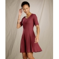 Barbera Red - Toad&Co - Women's Daisy Rib Café Slv Dress