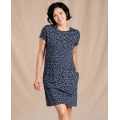 True Navy Daisy Chain Print - Toad&Co - Women's Windmere Ii SS Dress