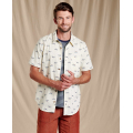 Oatmeal Road Runner Print - Toad&Co - Fletch SS Shirt