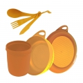 Orange - Sea to Summit - Delta Camp Set :  Bowl & Plate & Mug & Cutlery