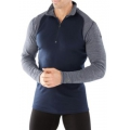 Deep Navy/Winter White - Smartwool - Men's Merino 250 Baselayer Pattern 1/4 Zip