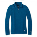 DEEP MARLIN HEATHER - Smartwool - Women's Merino 250 Baselayer 1/4 Zip