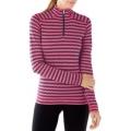 Potion Pink/Deep Navy - Smartwool - Women's Merino 250 Baselayer Pattern 1/4 Zip