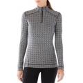 Dogwood White/Black - Smartwool - Women's Merino 250 Baselayer Pattern 1/4 Zip