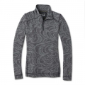 BLACK SNOW SWIRL - Smartwool - Women's Merino 250 Baselayer Pattern 1/4 Zip