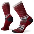 Tibetan Red - Smartwool - Women's Everyday Cozy Cabin Crew Socks