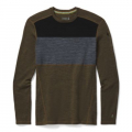 Military Olive Heather - Smartwool - Men's Merino 250 Baselayer Colorblock Crew