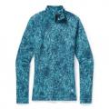 Wave Blue Traced Dahlia - Smartwool - Women's Merino 250 Baselayer Pattern 1/4 Zip