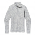 Light Gray Traced Dahlia - Smartwool - Women's Merino 250 Baselayer Pattern 1/4 Zip