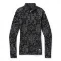 Black Digital Snowflake - Smartwool - Women's Merino 250 Baselayer Pattern 1/4 Zip