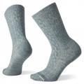 Dark Prussian Blue-Moonbeam Marl - Smartwool - Women's Everyday Cable Crew Socks