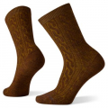 Acorn-Bordeaux Marl - Smartwool - Women's Everyday Cable Crew Socks