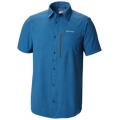 Petrol Blue Gingham - Columbia - Tech Trail Short Sleeve Shirt