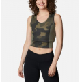Stone Green, Spotted Camo - Columbia - Women's Windgates II Cropped Tank