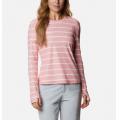 Salmon Tie Dye Stripe - Columbia - Women's W Sun Deflector Summerdry Ls Shirt