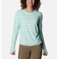 Mint Cay Tie Dye Stripe - Columbia - Women's W Sun Deflector Summerdry Ls Shirt