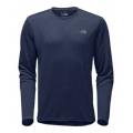 Shady Blue Heather/Mid Grey - The North Face - Men's L/S Reaxion Amp Crew