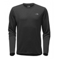 TNF Dark Grey Heather/Mid Grey - The North Face - Men's L/S Reaxion Amp Crew