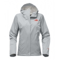 High Rise Grey/Fire Brick Red - The North Face - Women's Venture 2 Jacket