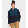 Blue Wing Teal/Aviator Navy - The North Face - Men's Mountain Sweatshirt Full Zip Hoodie