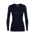 Midnight Navy - Icebreaker - Woman's 200 Oasis LS Crewe