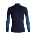 Midnight Navy/PRUSSIAN BLUE - Icebreaker - Men's 260 Zone LS Half Zip