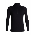 Black/CHILI RED - Icebreaker - Men's 260 Zone LS Half Zip
