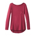Crushed Cran Heather - Prana - Women's Foundation L/S Tunic