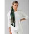 White - Prana - Women's Cozy Up Long Sleeve Tee