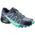 Slateblue/Spa Blue/Fresh Green - Salomon - Women's Speedcross 4