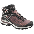 Peppercorn/Black/Coral Almond - Salomon - X ULTRA 3 MID GTX W