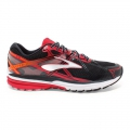 Black/HighRiskRed/Silver - Brooks Running - Ravenna 7