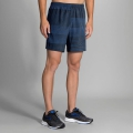 "Bay/Black Stripe - Brooks Running - Men's Sherpa 7"" 2-in-1 Short"