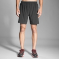 "Black - Brooks Running - Men's Sherpa 7"" 2-in-1 Short"