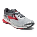 Silver/Anthracite/High Risk Red - Brooks Running - Men's Ravenna 8