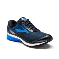 Ebony/Metallic Charcoal/Electric Brooks Blue - Brooks Running - Men's Ghost 10