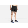 "Black - Brooks Running - Men's Sherpa 5"" Short"
