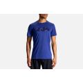 Cobalt/Run Stripe                                            - Brooks Running - Men's Distance Graphic Tee
