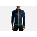 Navy/Heather Spruce                                          - Brooks Running - Men's Fusion Hybrid Jacket