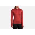 Rosewood/Hot Pink                                            - Brooks Running - Women's Dash 1/2 Zip