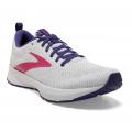 White/Navy/Pink - Brooks Running - Women's Revel 5