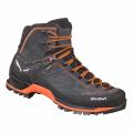 Asphalt/Fluo Orange - Salewa - Mountain Trainer Mid GORE-TEX Men's Shoes