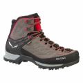 Charcoal/Papavero - Salewa - Mountain Trainer Mid GORE-TEX Men's Shoes