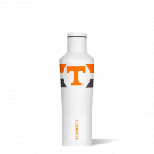 Canteen 16oz Modernist White-  TENNESSEE U. OF- Gym Stripe by Corkcicle